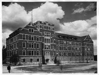 Photo of the Electrical Engineering building in 1947